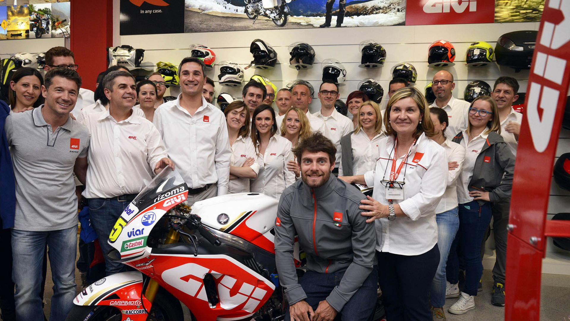 GIVI+and+LCR+Honda+celebrate+250+races+together